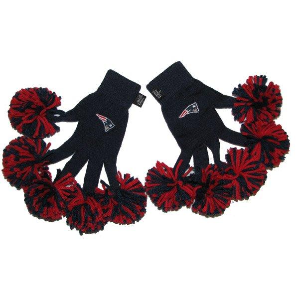 Ladies Patriots Spirit Fingers Gloves-Navy