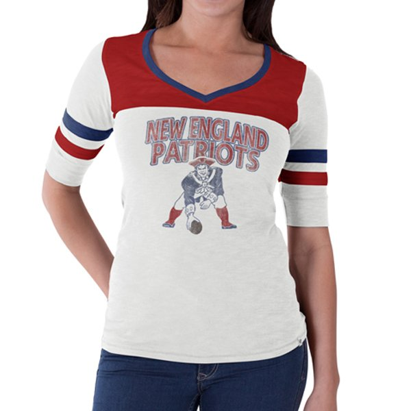 Ladies Throwback Game Debut Tee-White
