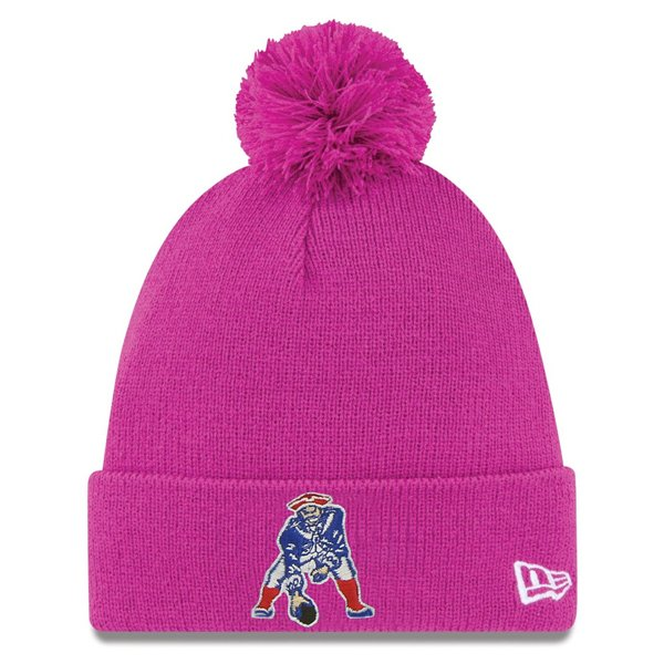 Ladies New Era Throwback Pom Knit-Pink