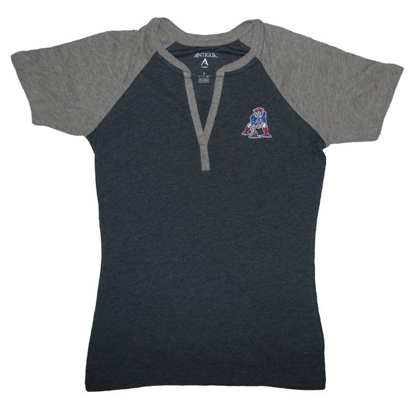 Ladies Throwback Shine Slub Tee-Navy