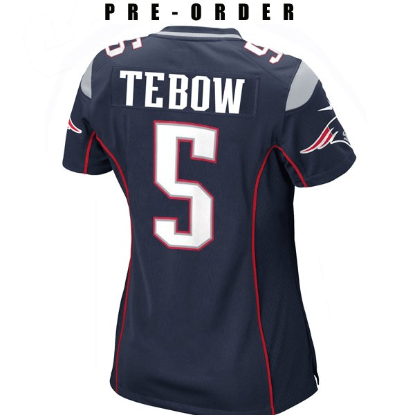 Ladies Nike Tim Tebow Game Jersey-Navy