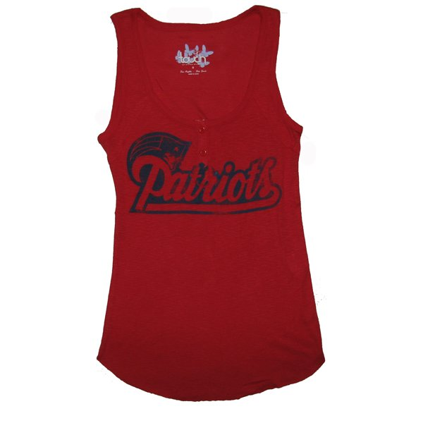Ladies Touch Curveball Tank-Red