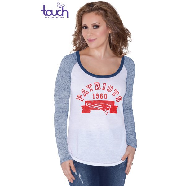 Ladies Touch Edie Tee-White/Navy