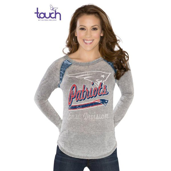 Ladies Touch Formation Long Sleeve Tee-Gray