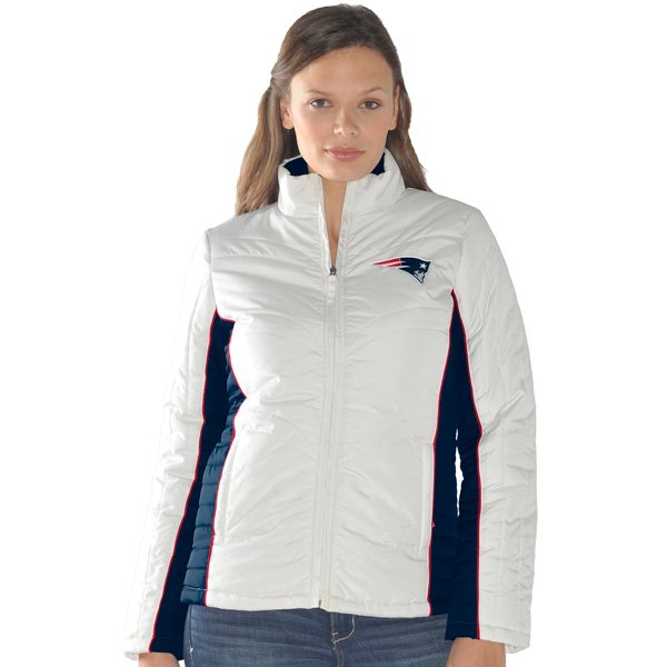 Ladies Touchdown Full Zip Jacket-White