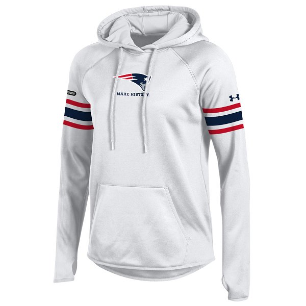 Ladies NFL Combine Fleece Hood-White