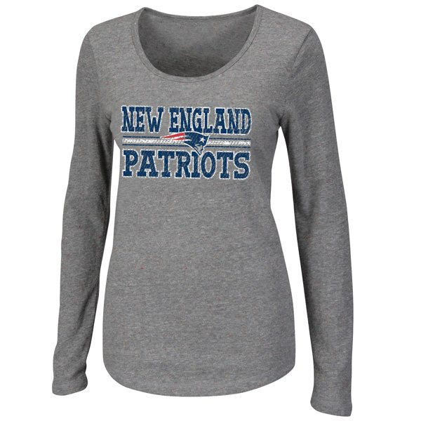 Ladies Coin Toss III Long Sleeve Tee-Gray