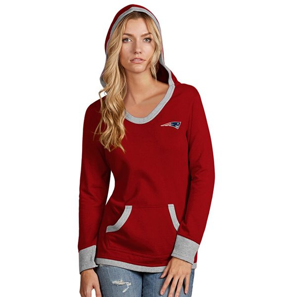 Ladies Vibe Long Sleeve Top-Red