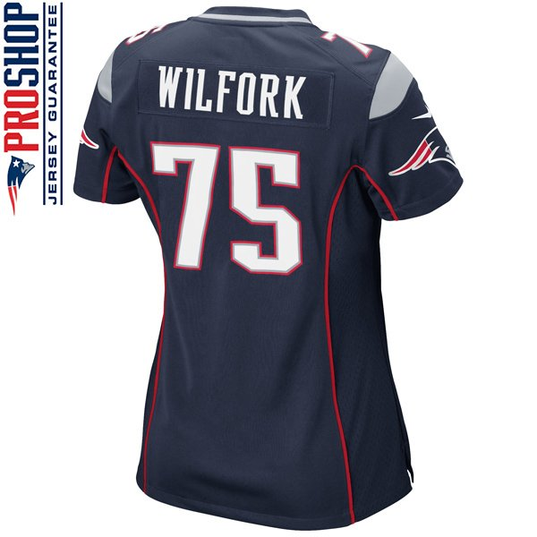 Ladies Nike Vince Wilfork Game Jersey-Navy