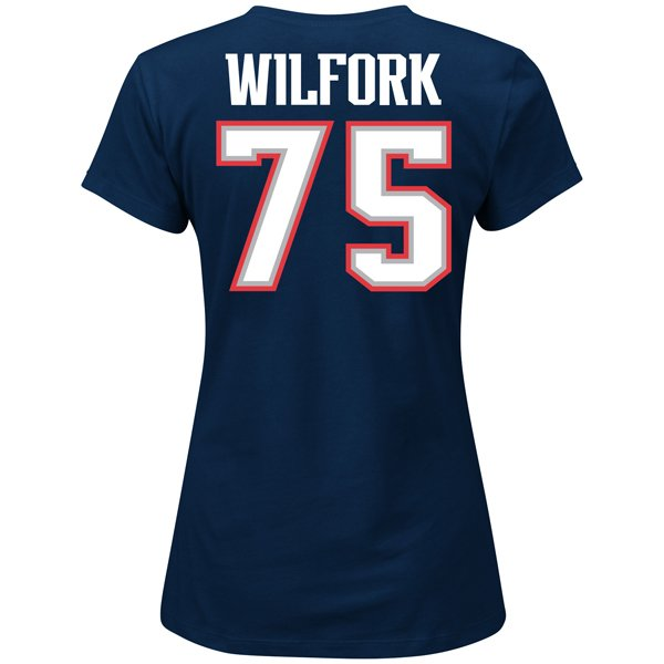 Ladies Vince Wilfork Fair Catch Tee-Navy