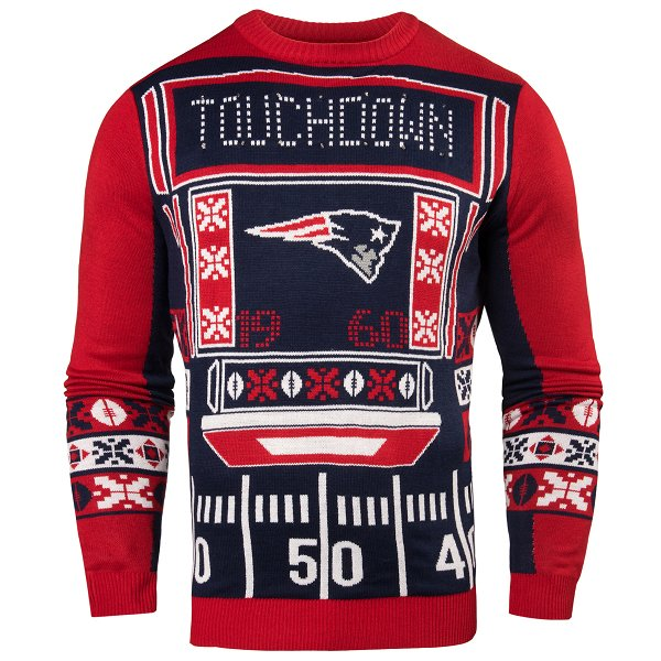 Patriots Light Up Ugly Sweater