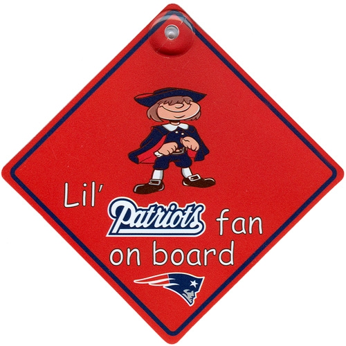 Patriots Lil' Fan On Board Sign