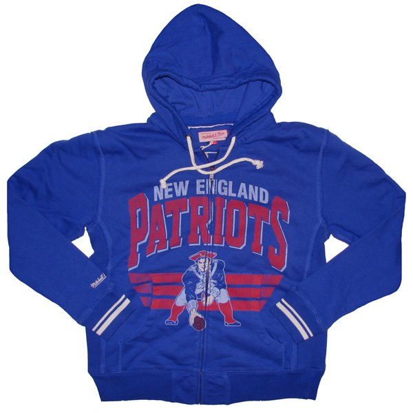 M+N Throwback Stadium Full Zip Hood-Royal