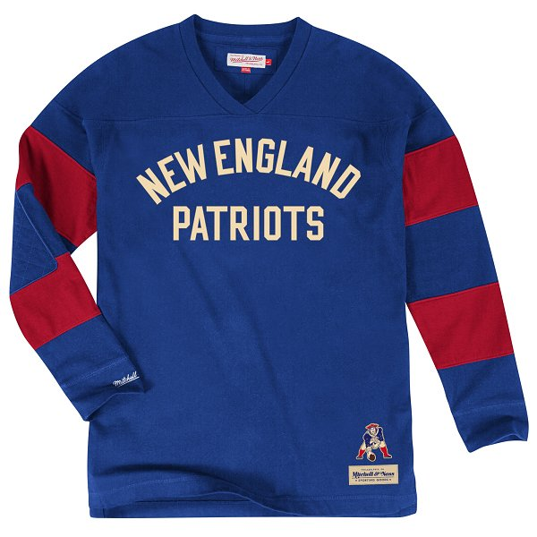 M+N Field Goal Throwback Long Sleeve Top-Royal