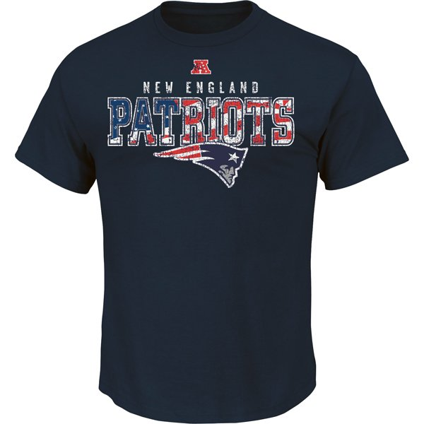Majestic Stars and Stripes Tee-Navy