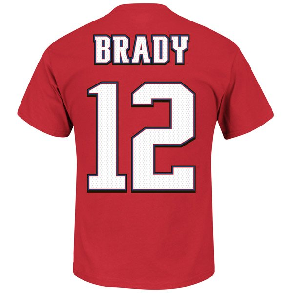 Brady Throwback Name and Number Tee