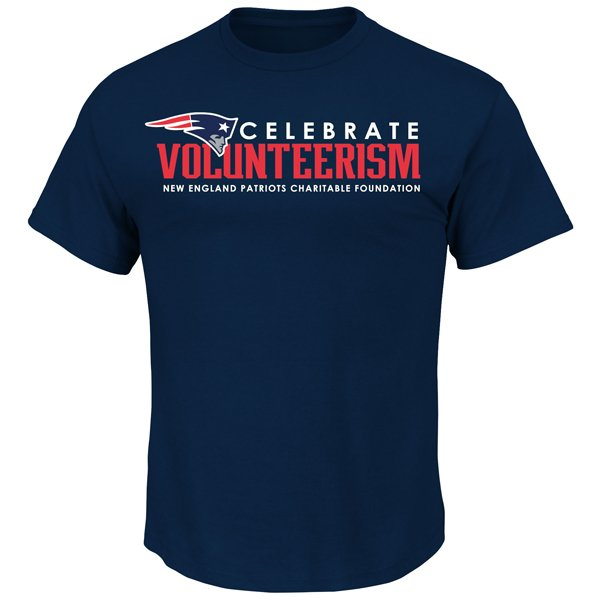 Majestic Celebrate Volunteer Tee-Navy