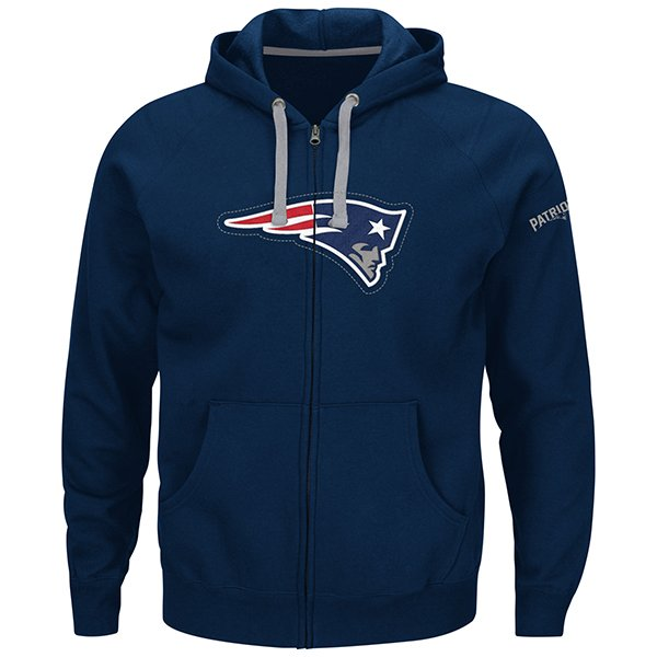 Majestic Anchor Point Full Zip Hood-Navy