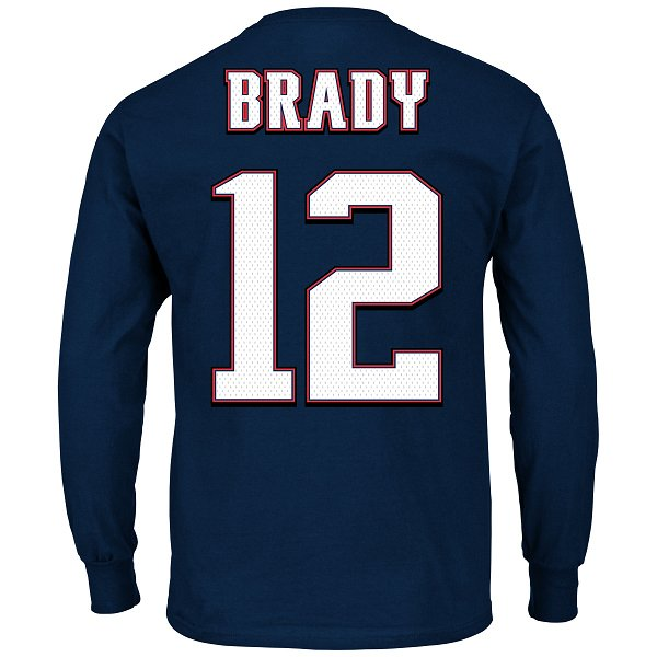 Majestic Tom Brady #12 Long Sleeve Tee