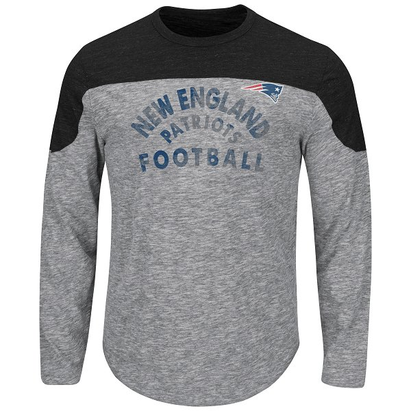 Majestic Corner Blitz Long Sleeve Top-Gray