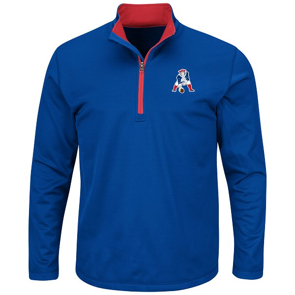 Majestic Throwback Across Score 1/4 Zip-Royal