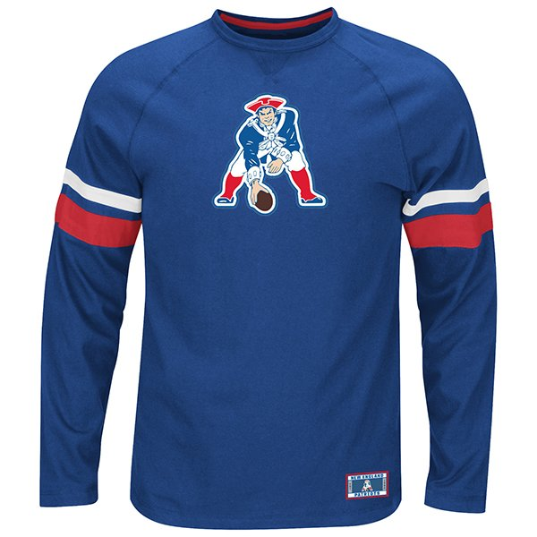 Majestic Throwback Power Hit Long Sleeve Top-Royal