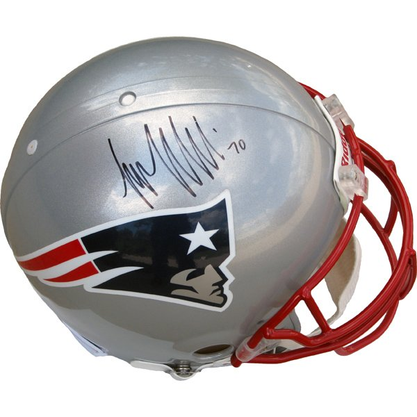 Autographed Logan Mankins Authentic Helmet