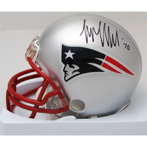 Logan Mankins Signed Mini Helmet