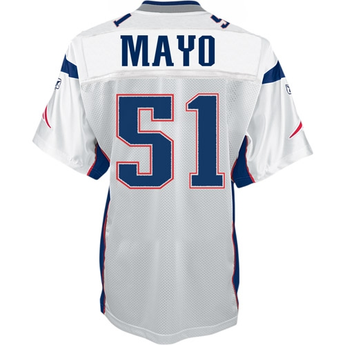 Jerod Mayo Authentic Jersey-White