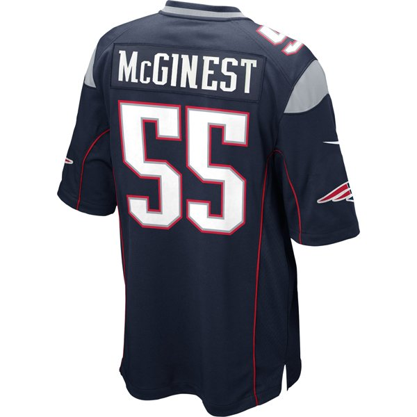 Nike Willie McGinest #55 Game Jersey-Navy