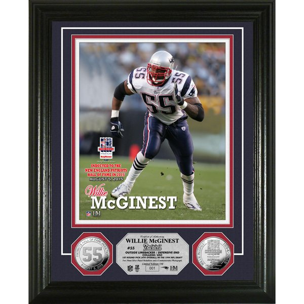 Willie McGinest/Hall Induct Photomint