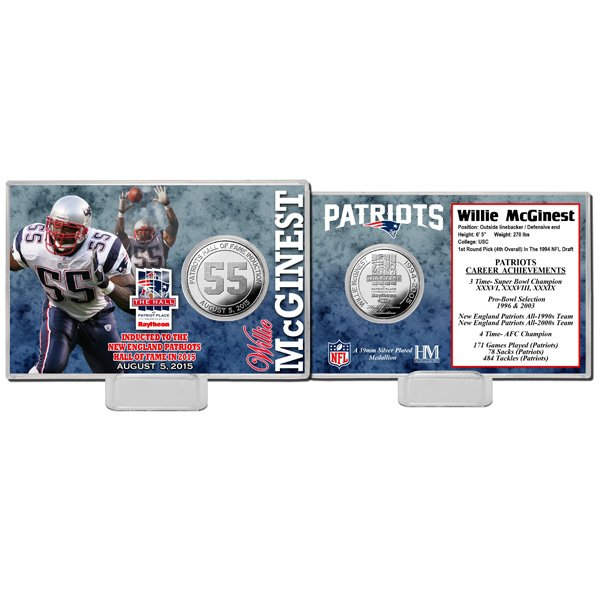 Willie McGinest/Hall Silver Coin Card