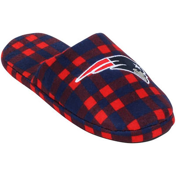 Patriots Mens Flannel Slide Slippers