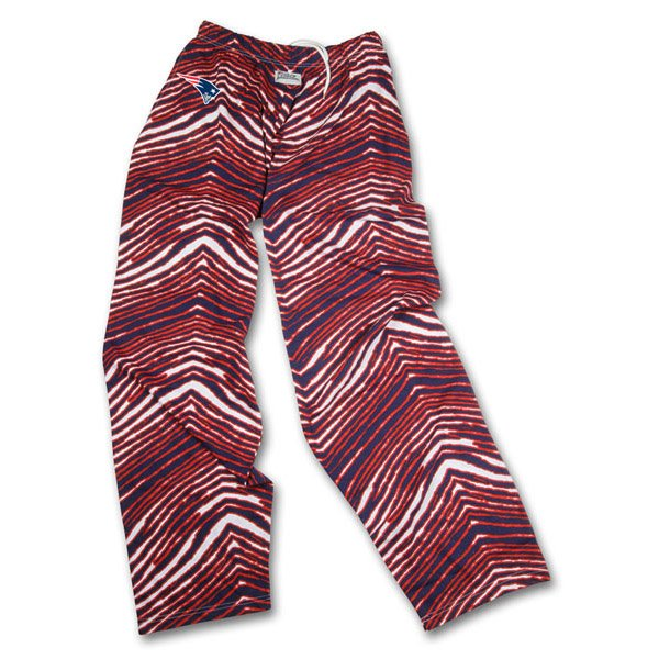 Patriots Zubaz Pants-Navy/Red/White