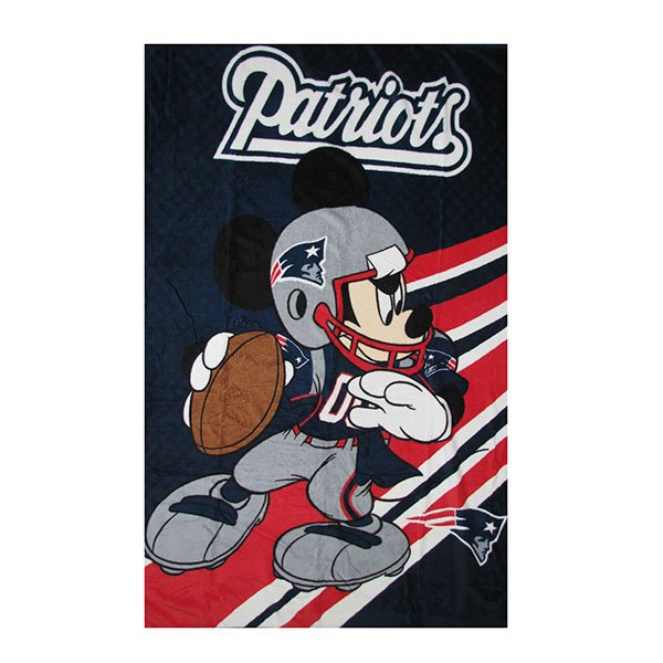 Patriots/Mickey Mouse 40x50 Throw Blanket