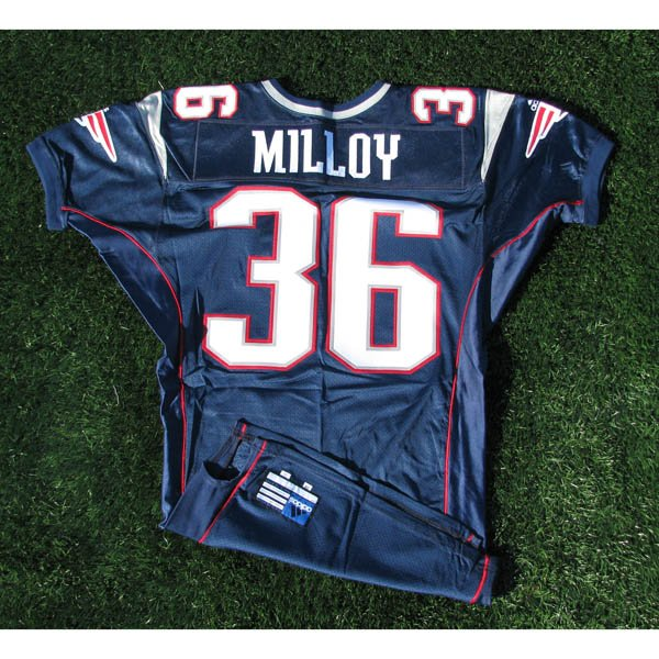 2000 Lawyer Milloy #36 Navy Team issued Jersey