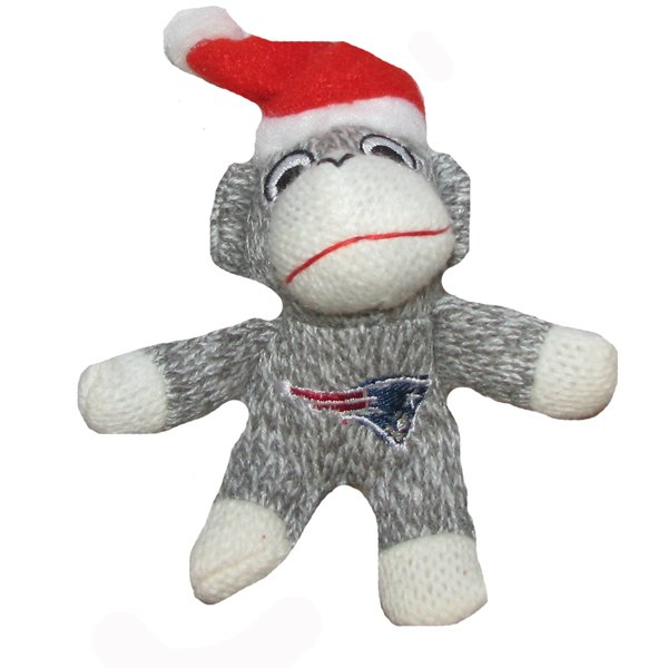 Patriots Monkey/Santa Hat Ornament