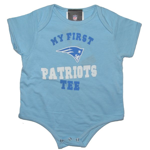 Newborn My First Patriots Tee-Light Blue