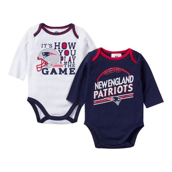 Newborn 2pk Long Sleeve Bodysuits-Navy
