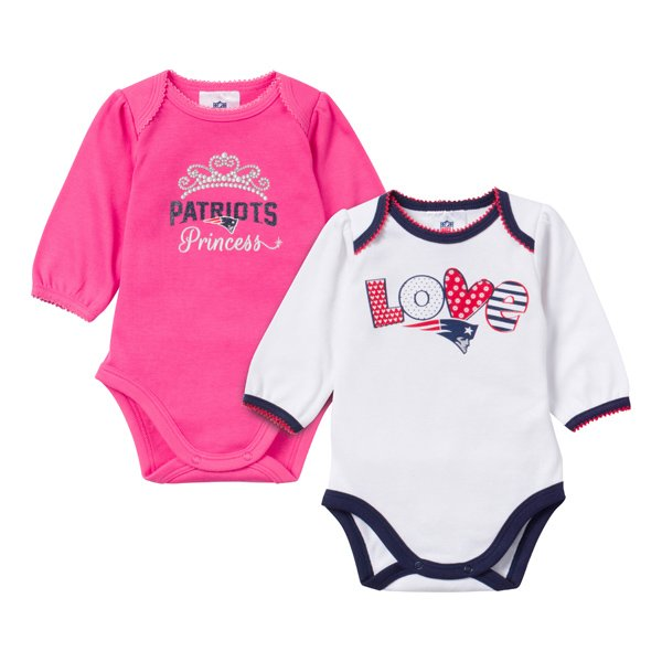 Girls Newborn 2pk Long Sleeve Bodysuits-Pink