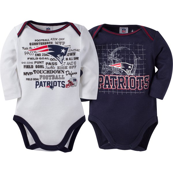 Newborn 2pk Long Sleeve Bodysuits-Navy/White
