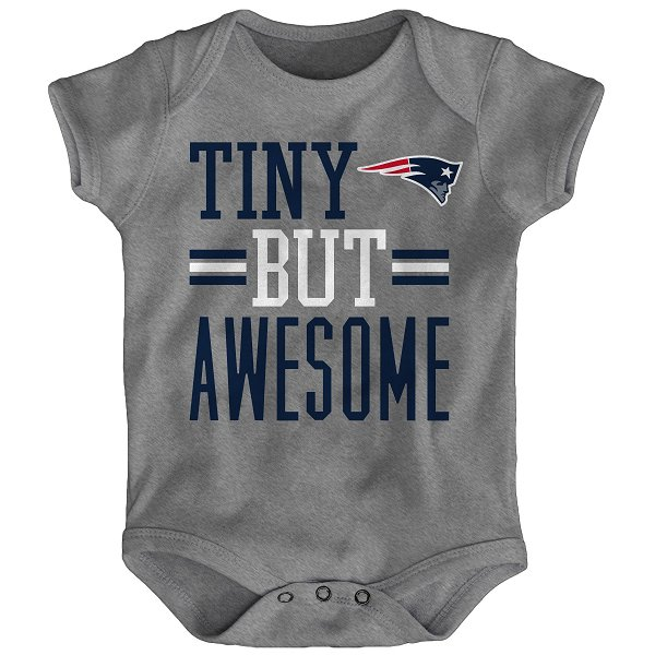 Infant Tiny But Awesome Creeper-Gray