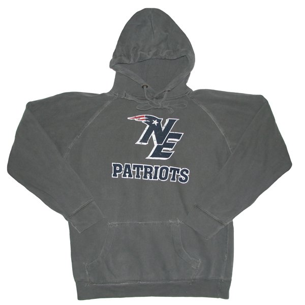NE Logo Football Hood-Pepper