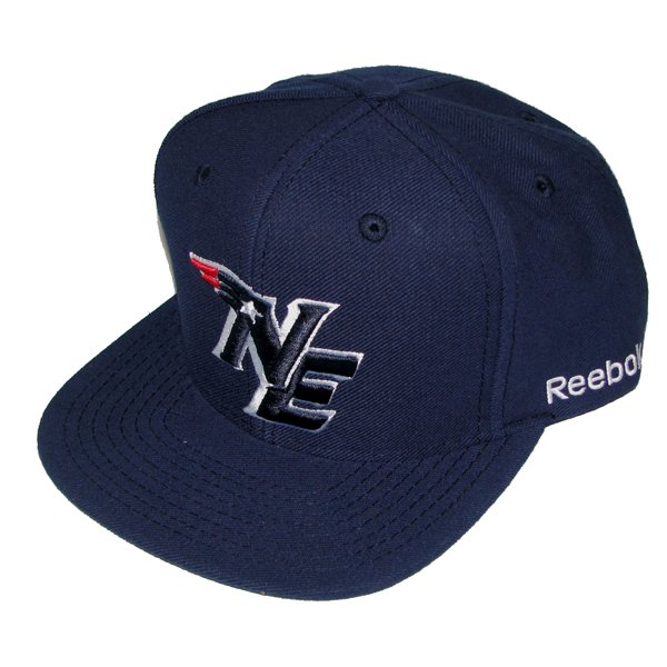 NE Snapback Wool Cap-Navy