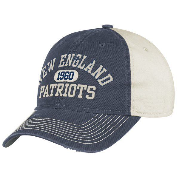 Patriots Adjustable Slouch Cap Navy/Oat