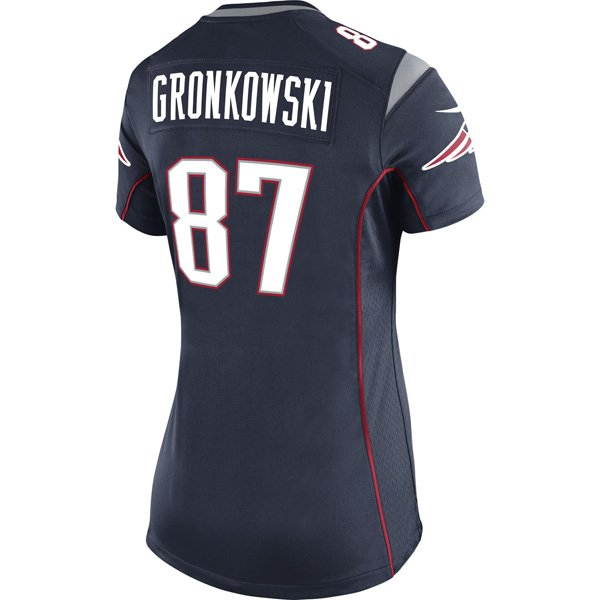 2014 Ladies Nike Rob Gronkowski Game Jersey-Navy