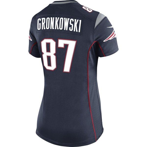 2014 Ladies Nike Rob Gronkowski Game Jersey-Navy