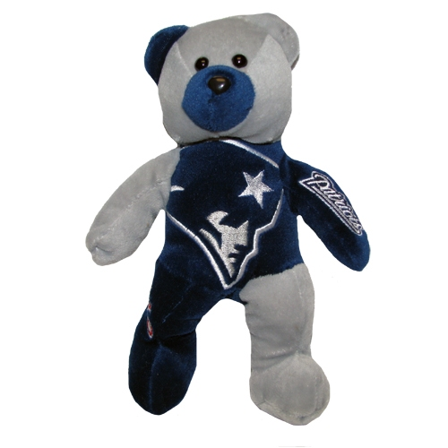 Patriots Navy/Gray Plush Bear