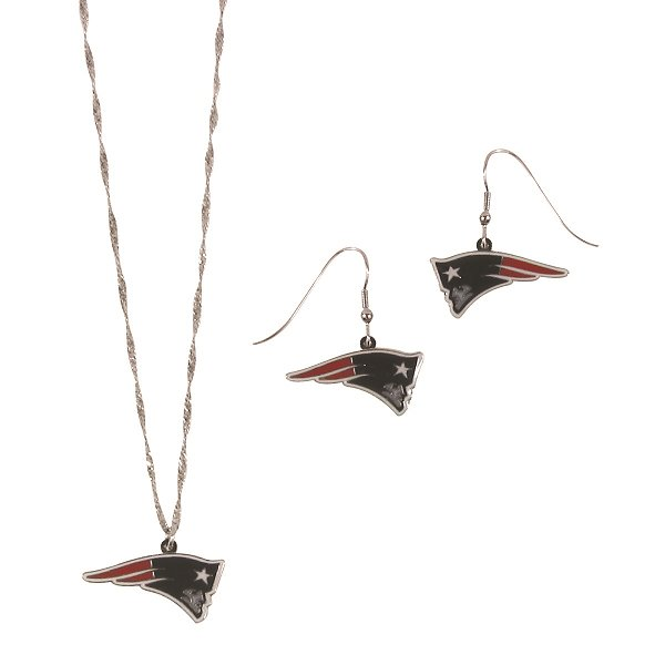 Patriots Earrings/Necklace Set