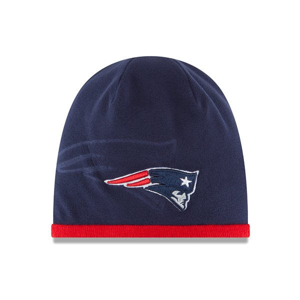 New Era 2015 Tech Knit Hat-Navy/Red